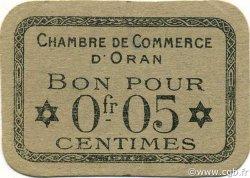 5 Centimes ALGÉRIE Oran 1916 JP.050 TTB+