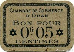 5 Centimes ORAN ALGÉRIE ORAN 1916 JP.050 pr.NEUF