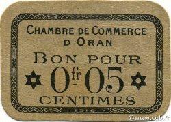 5 Centimes ORAN ALGÉRIE ORAN 1918 JP.052 pr.NEUF