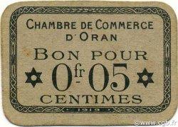 5 Centimes ORAN ALGÉRIE ORAN 1919 JP.054 pr.NEUF