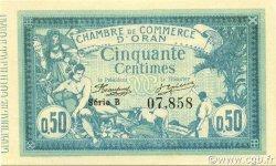 50 Centimes ORAN ALGÉRIE ORAN 1915 JP.141.01 NEUF