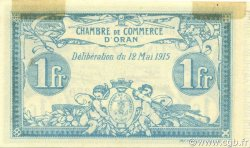 1 Franc ORAN ALGÉRIE Oran 1915 JP.141.02 SUP+