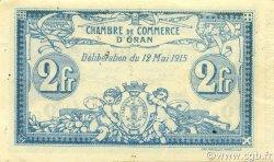 2 Francs ALGÉRIE Oran 1915 JP.141.03 SPL