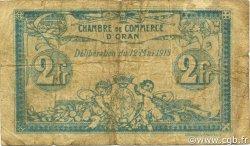 2 Francs ORAN ALGÉRIE ORAN 1915 JP.141.03 B+