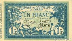 1 Franc ALGÉRIE Oran 1915 JP.141.08 SPL