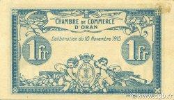 1 Franc ORAN ALGÉRIE ORAN 1915 JP.141.08 SPL