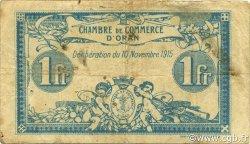 1 Franc ORAN ALGÉRIE ORAN 1915 JP.141.08 TB