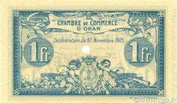 1 Franc ORAN ALGÉRIE ORAN 1915 JP.141.10 NEUF