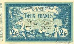 2 Francs ORAN ALGÉRIE ORAN 1915 JP.141.14 SPL