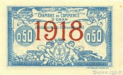 50 Centimes ALGÉRIE Oran 1918 JP.141.19 NEUF