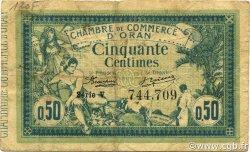 50 Centimes ORAN ALGÉRIE ORAN 1918 JP.141.19 TB+