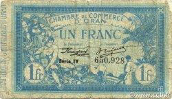 1 Franc ORAN ALGÉRIE ORAN 1918 JP.141.20 B