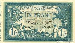 1 Franc ORAN ALGÉRIE ORAN 1918 JP.141.20 NEUF
