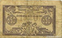 50 Centimes ALGÉRIE Oran 1920 JP.141.22 B