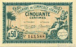 50 Centimes ALGÉRIE Oran 1921 JP.141.25 SPL