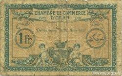 1 Franc ORAN ALGÉRIE Oran 1921 JP.141.27 B