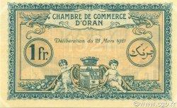 1 Franc ORAN ALGÉRIE ORAN 1921 JP.141.27 NEUF