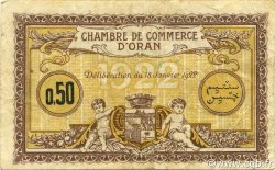 50 Centimes ORAN ALGÉRIE Oran 1922 JP.141.31 TTB