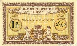 1 Franc ORAN ALGÉRIE ORAN 1922 JP.141.33 NEUF