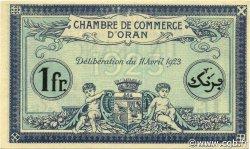 1 Franc ALGÉRIE Oran 1923 JP.141.39 SPL