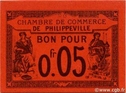 5 Centimes PHILIPPEVILLE ALGÉRIE PHILIPPEVILLE 1915 JP.12 NEUF