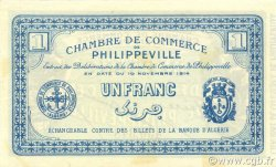 1 Franc PHILIPPEVILLE ALGÉRIE PHILIPPEVILLE 1914 JP.142.06 pr.NEUF
