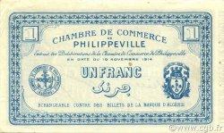 1 Franc ALGÉRIE Philippeville 1914 JP.142.06 SPL