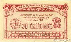 50 Centimes PHILIPPEVILLE ALGÉRIE PHILIPPEVILLE 1917 JP.142.08 pr.SPL