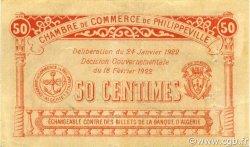 50 Centimes PHILIPPEVILLE ALGÉRIE PHILIPPEVILLE 1922 JP.142.10 TTB