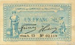1 Franc PHILIPPEVILLE ALGÉRIE Philippeville 1922 JP.142.11 TTB