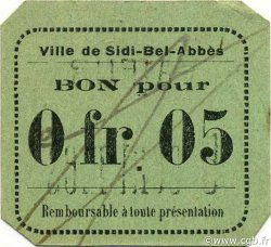 5 Centimes SIDI-BEL-ABBÈS ALGÉRIE Sidi-Bel-Abbès 1916 JPCV.05 pr.NEUF