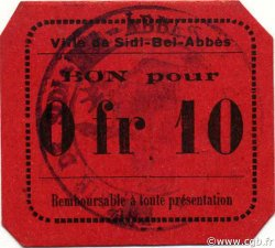 10 Centimes SIDI-BEL-ABBÈS ALGÉRIE Sidi-Bel-Abbès 1916 JPCV.07 pr.NEUF