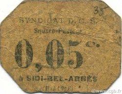 5 Centimes ALGÉRIE Sidi-Bel-Abbès 1916 JPCV.11 B