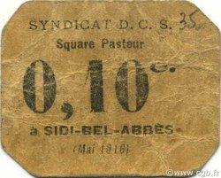 10 Centimes SIDI-BEL-ABBÈS ALGÉRIE SIDI-BEL-ABBÈS 1916 JPCV.12 TB+