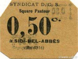 50 Centimes ALGÉRIE Sidi-Bel-Abbès 1916 JPCV.14 SPL