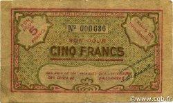 5 Francs ALGÉRIE TÉNÈS 1943 P.-- TB