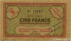5 Francs ALGÉRIE Ténès 1943 P.-- TTB