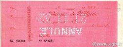 Chèque (500) Francs ALGÉRIE  1932 P.-- SUP