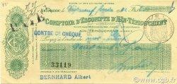 Chèque 200 Francs ALGÉRIE  1942 P.-- SUP