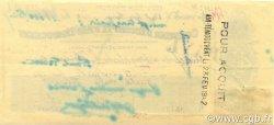 Chèque 4000 Francs ALGÉRIE  1942 P.-- SUP