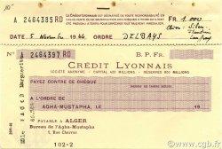 1000 Francs ALGÉRIE  1944 P.-- SUP