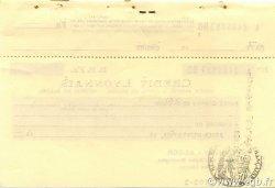 Chèque 1000 Francs ALGÉRIE  1944 P.-- SUP
