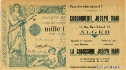 1000 Francs Publicitaire ALGÉRIE  1930 P.-- SUP