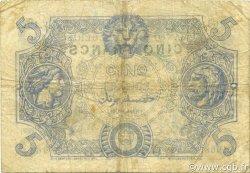 5 Francs type 1873 TUNISIE  1919 P.01 TB