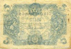 5 Francs type 1873 TUNISIE  1920 P.01x pr.TTB