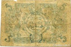 5 Francs type 1873 TUNISIE  1925 P.01x TB
