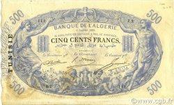 500 Francs type 1874 TUNISIE  1909 P.05a TTB à SUP