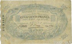 500 Francs type 1874 modifié TUNISIE  1924 P.05x TTB