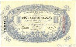 500 Francs type 1874 modifié TUNISIE  1923 P.05s pr.NEUF