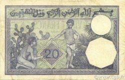20 Francs type 1912 TUNISIE  1938 P.06b TTB